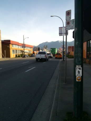Typical Clark Street shot with mountains.