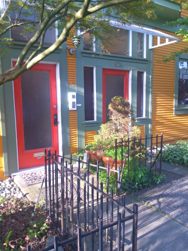 Colourful doorways in Strathcona