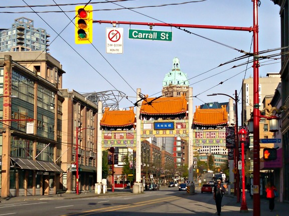 Millenium Gate in Chinatown marks the divide between East Van and downtown in my mind.