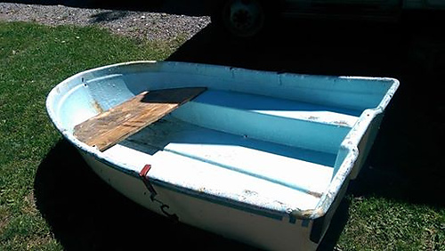 Got a little boat from my brother and carted it up to our property.