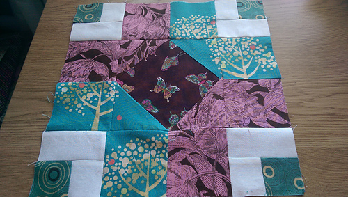 Completed my June Aurifil Quilt Challenge Block.