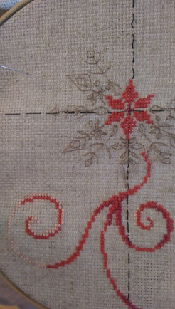 Started a new cross-stitch project.