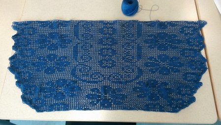 Made it well past half-way on the lace tablerunner.