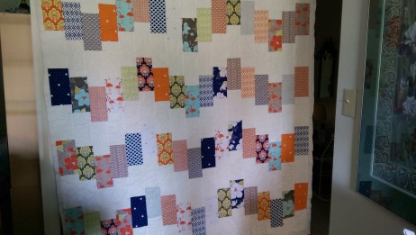 Picked up this quilt from the quilter when I got back to Vancouver - a gift for my step-daughter once the binding is done.