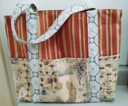 Made a new tote bag out of Eclectic Elements fabric.