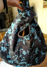 Made a japanese knot bag - perfect for small projects.