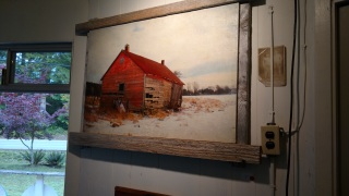 Bought some great art at the 20th annual Gabriola Studio tour (work by Chris Straw).