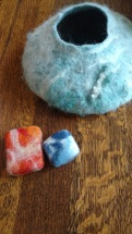 Was given this beautiful felted work by my friend Zed.