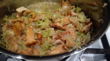 Made a big pot of chantrelle mushroom soup!