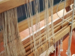 Hundreds of hand-tied string heddles came with the loom which I will be replacing with techsolv.