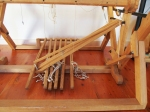 Lamms on this loom are all on one base level but I believe they will be tied upper and lower.